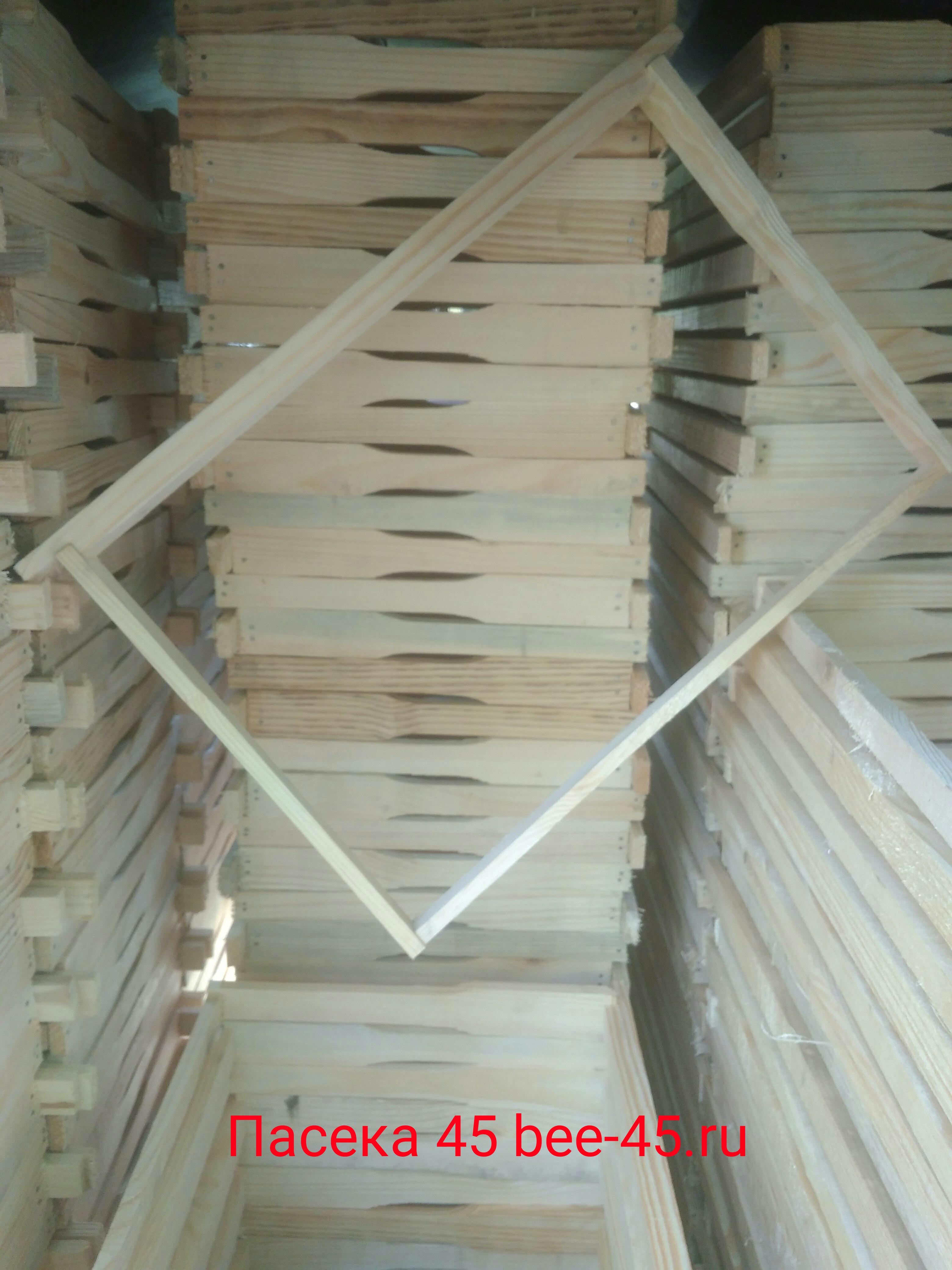 Рамки ульевые деревянные Дадан, Рут, Магазинная в сборе